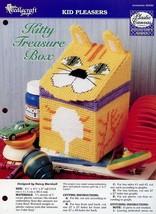 Kitty Treasure Box Cat Plastic Canvas PATTERN/INSTRUCTIONS NEW - $1.23