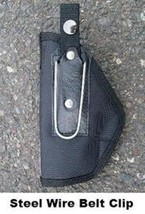 Left Hand SIG SAUER P220 Compact Auto Nylon Belt Clip Holster Made in th... - $13.98