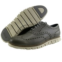 Cole Haan Zerogrand Mens 9 Leather Formal Wingtip Oxford Derby Ironstone... - $124.95