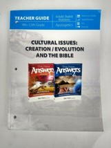 Cultural Issues: Creation Evolution and the Bible Teacher Guide Masterbo... - $15.97