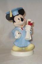 Mickey Mouse Graduation Diploma Precious Moments Figurine Congrats Blue ... - $49.49