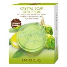 Maithong Crystal Soap Olive / Noni 70g  - $8.99