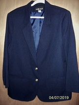Sag Harbor -18 - Navy Lined Blazer Jacket -2 pockets- Shoulder Pads - 2 ... - $5.99