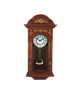 Bedford Clock Collection 27.5 Inch Oak Finish Pendulum Wall Clock - $140.22