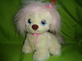 Puppy Surprise Tan Dog Pink Ribbons Plush Doll Purple Heart On Face Hasbro - $8.90