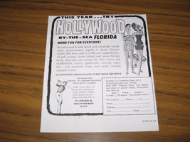 1964 Print Ad Hollywood By-the-Sea,Florida Chamber of Commerce - $10.72