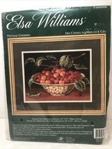 Elsa Williams Needlepoint Kit Vintage Cherries Brand New In Package - $36.60