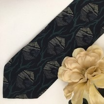 Giorgio Armani Blue & Teal Print men's silk business tie - $34.95