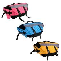 DOG Life Preserver Jacket * 3 Colors * 5 Sizes *  Puppy Flotation Device... - $39.99