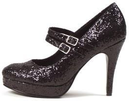 Ellie Jane High Heels Black Glitter Womens 10.5-11 Shoes 2 Strap Costume... - €23,02 EUR
