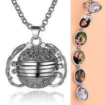 2019 Hot DIY Photo Storage Pendant Bright Silver 4 Colors Angel Wings Locket Nec - $9.87