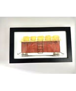 Spicher and Company Train Car Picture Wall Hanging Kolene Spicher Signed... - $37.12