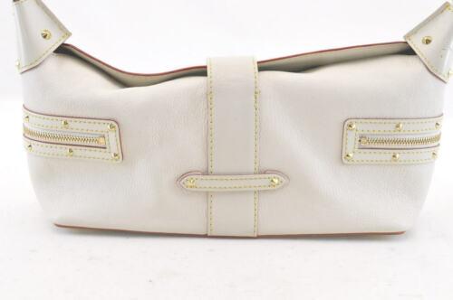 LOUIS VUITTON Suhali Leather Limpetueux Blanc Shoulder Bag M91858 Auth 2201