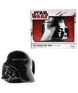 Star Wars Mug Darth Vader Helmet 3D Ceramic Coffee and Drink Cup Lid New - $25.73