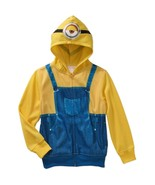 Minion Childs Boys Size Movie Costume Hoodie Sz M (8), L (10-12) NWT - $24.99