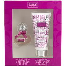 Coach Poppy Flower Eau De Parfum Spray 1.0 Oz & Body Lotion 3.4 oz 2 Pcs Set image 1