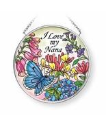 "I Love My Nana Sun Catcher Amia New Small Round 3.5"" Hand Painted Glass ... - $20.78"