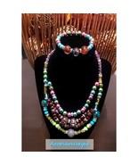 Beaded handmade necklaceset - $17.00