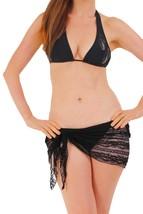 Black Gorgeous LACE Sarong Cover-up Wrap Pareo: MINI Length - $28.99