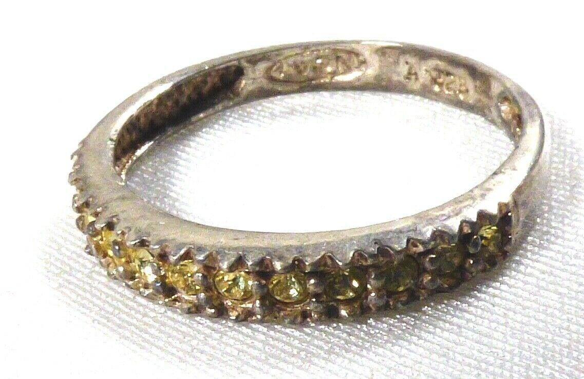 AVON STERLING SILVER 925 PERIDOT BAND RING SIZE 7.5 image 6
