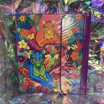 EUC RARE VINTAGE Lisa Frank 3 Ring Trapper Keeper Binder Rainbow Tiger Trio 90s image 2