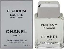 Chanel 'Platinum Egoiste' After Shave Lotion 2.5 oz. / 75ml Men's Fragrance NIB - $117.80
