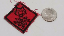 Vintage Cub Scouts Boy Scouts of America Patch Red & Black - $9.89