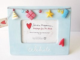 Sandra Magsamen Department 56 Blue Musical Picture Frame - Celebrate - $40.00