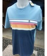 NWT Men's retro style Original Penguin shirt Sargasso Sea Color Fast Ship  - $19.99
