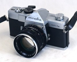 MINOLTA SR-1s VINTAGE 35mm Film SLR Camera ROKKOR-PF f/1.8 55mm Lens JAPAN - $109.80