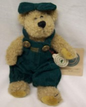 "Boyds ATTIE TEDDY BEAR IN GREEN OVERALLS 9"" Plush STUFFED ANIMAL Toy NEW - $16.34"