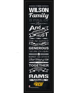 Personalized Virginia Commonwealth Rams 24 x 8 Family Cheer Framed Print - $39.95