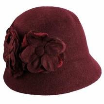 Nine West Women's Flower Cloche Hat (Burgundy, One Size) - $37.12
