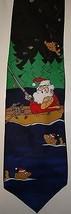 Mens Hallmark Fishing Santa Christmas Tie Neck Holiday Whimsical Gag - $14.95