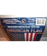 NEW American Flag Weather Resistant USA Proud Pole or Banner Display 50 ... - $20.74