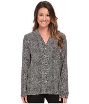 Calvin Klein Underwear Women's Viscose PajamaTop, Black/Gray, Size XS - $19.79