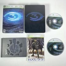 Microsoft Xbox 360 Halo 3 Video Game 2007 Steelbook Tested CIB Complete ... - $30.67