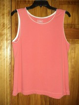 L.L.BEAN Vermilion red tank top sz L woman - $4.15