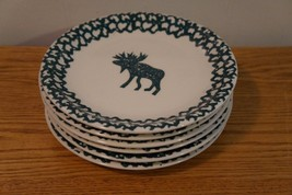 Tienshan Folkcraft MOOSE COUNTRY Set of 6 Salad... - $26.96