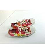 Converse Womens Sz 6 Jack Pursell Lace Tie Up Sneakers Shoes pink Orange... - $28.04