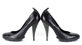 BCBG Maxazria Black Leather Stiletto High Heel Pumps Shoes Womens Size 7... - $19.79