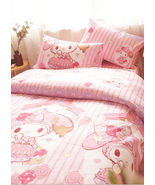 MY MELODY BOW Pattern QUEEN SIZE DOUBLE BED SHEET SET 4 PCS Cotton Beddi... - $85.00