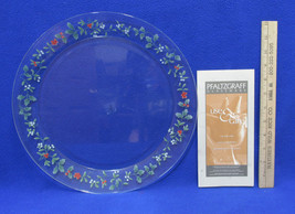 "Pfaltzgraff Winterberry Glass Serving Platter Tray Round 13"" NOS Christm... - $20.78"
