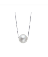 Fashion Women Sterling Silver Pearl Necklace - $15.99