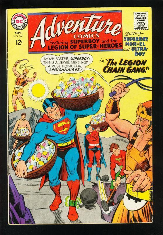 ADVENTURE COMICS #360 1967-MINING COVER-SUPERBOY-LEGION SUPER HEROES-VG