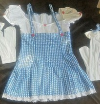 Women's Dorothy Wizard Of Oz Sequined Blue Dress Costume Stockings Medium 6-8 - $18.81
