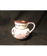 Old Castle White Copper Luster Floral Small Creamer England - $19.99