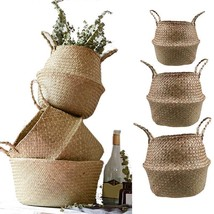Basket Rattan Woven Flower Pot Planter Dirty Laundry Hamper Home Storage... - $9.99+
