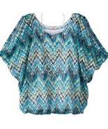 Candies Zig Zag Cami Blouse Top Set & Necklace Girls 7-16 M 10-12 L 14 - $19.99