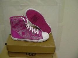 Women Ugg Australia Lavender Johney Butterfly Hi Top Sneaker,size 2 Youth - $54.40